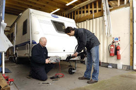 On site workshop at our secure caravan, motorhome and boat storage, Essex